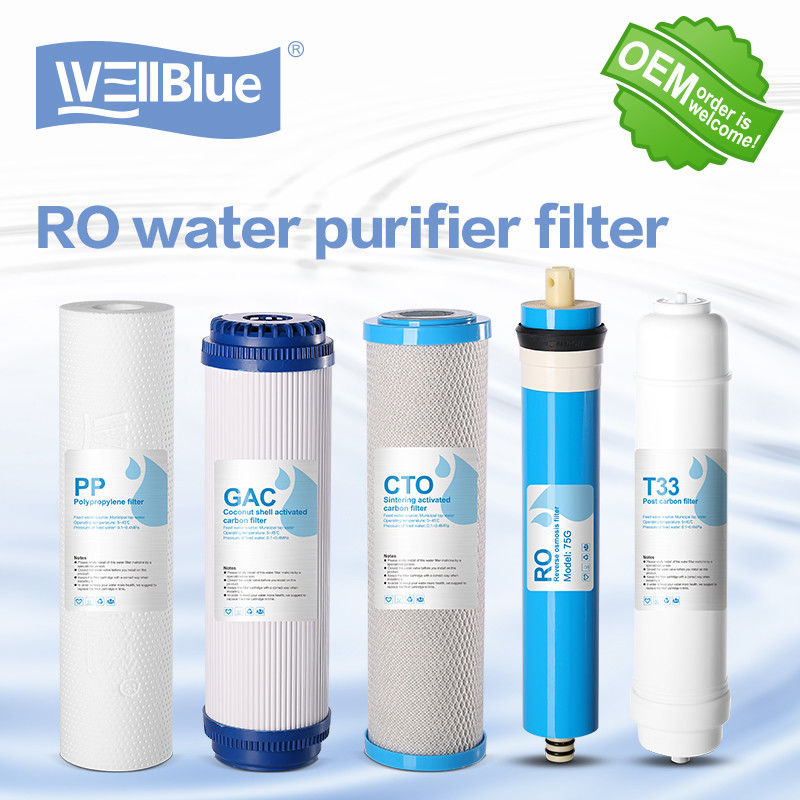 Granular Active Carbon RO Water Filter Replacement 100% Polypropylene 10 Inch