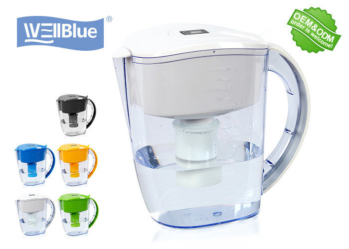 BPA Free Plastic Alkaline Well Blue Water Filter Pitcher 3.5L Multi Colored Available